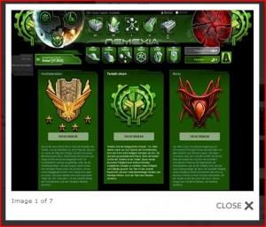 Nemexia, kostenlose Browserspiele Screenshot